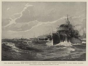 The Spanish Torpedo Boat Flotilla under Captain Villaamil Which Assembled at Cape Verde Islands by Eduardo de Martino