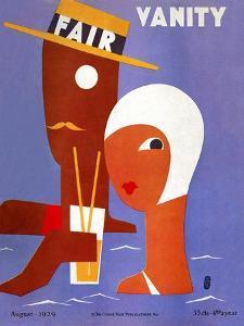 Vanity Fair Cover - August 1929 by Eduardo Garcia Benito