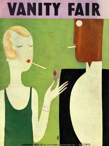 Vanity Fair Cover - January 1930 by Eduardo Garcia Benito