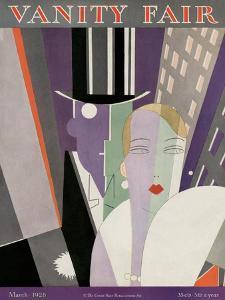 Vanity Fair Cover - March 1928 by Eduardo Garcia Benito