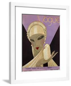Vogue Cover - April 1927 by Eduardo Garcia Benito