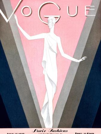 Vogue Cover - April 1928 by Eduardo Garcia Benito