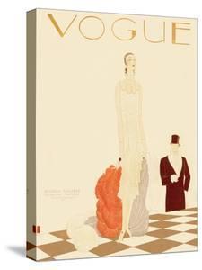 Vogue Cover - December 1925 by Eduardo Garcia Benito