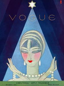 Vogue Cover - December 1927 by Eduardo Garcia Benito