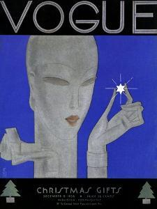 Vogue Cover - December 1928 by Eduardo Garcia Benito