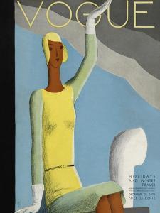 Vogue Cover - December 1929 by Eduardo Garcia Benito