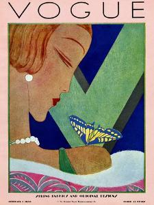 Vogue Cover - February 1928 by Eduardo Garcia Benito