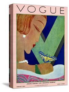 Vogue Cover - February 1928 by Eduardo Garcia Benito