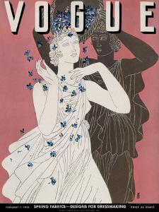 Vogue Cover - February 1932 by Eduardo Garcia Benito