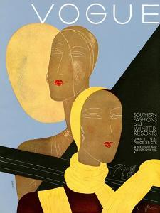 Vogue Cover - January 1931 by Eduardo Garcia Benito