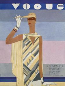 Vogue Cover - July 1928 by Eduardo Garcia Benito