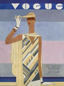 Vogue Cover - July 1928 by Eduardo Garcia Benito