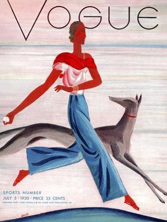 Vogue Cover - July 1930 by Eduardo Garcia Benito