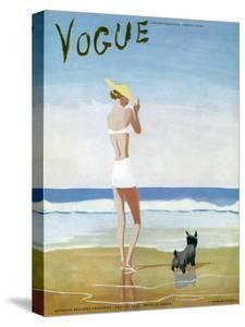 Vogue Cover - July 1937 - Beach Walk by Eduardo Garcia Benito