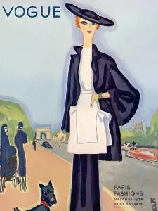 Vogue Cover - March 1934 by Eduardo Garcia Benito
