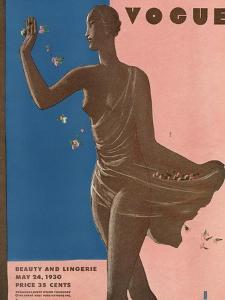 Vogue Cover - May 1930 by Eduardo Garcia Benito