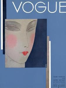 Vogue Cover - November 1929 by Eduardo Garcia Benito
