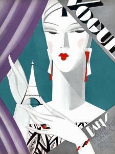 Vogue Cover - October 1926 - Petit Eiffel Tower by Eduardo Garcia Benito