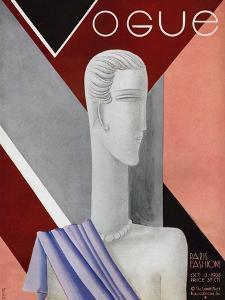 Vogue Cover - October 1928 by Eduardo Garcia Benito