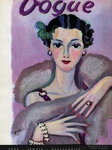 Vogue Cover - October 1934 by Eduardo Garcia Benito