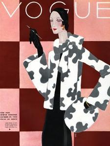 Vogue Cover - October 1936 by Eduardo Garcia Benito