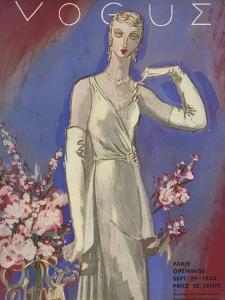 Vogue Cover - September 1930 by Eduardo Garcia Benito