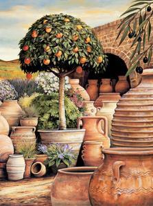 Orange Topiary by Eduardo Moreau