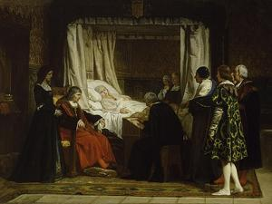 Queen Isabel La Católica Dictating Her Last Will and Testament, 1864 by Eduardo Rosales