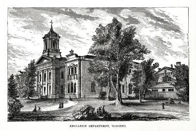 Education Department, Toronto, Ontario, Canada, 19th Century--Giclee Print