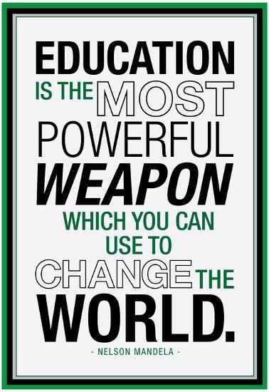 Education Nelson Mandela Quote--Laminated Poster