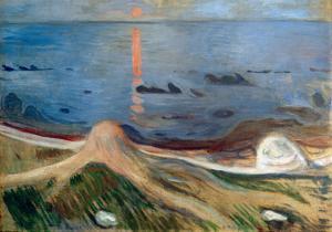 Beach Mysticis, 1892 by Edvard Munch