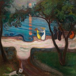 Dancing on the Shore by Edvard Munch