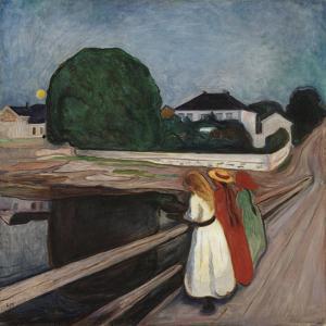 Girls On The Bridge 1901 by Edvard Munch