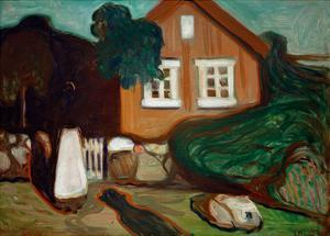 House in Moonlight, 1895 by Edvard Munch