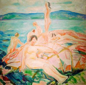 In the Height of the Summer, 1915 by Edvard Munch