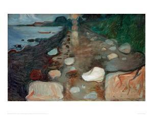 Moonlight on the Beach, 1892 by Edvard Munch