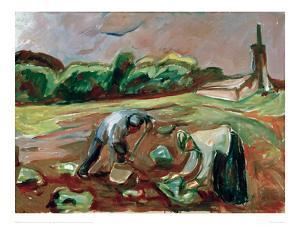 Potato Harvest, 1924 by Edvard Munch
