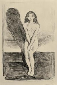 Puberty Black and White, 1894 by Edvard Munch