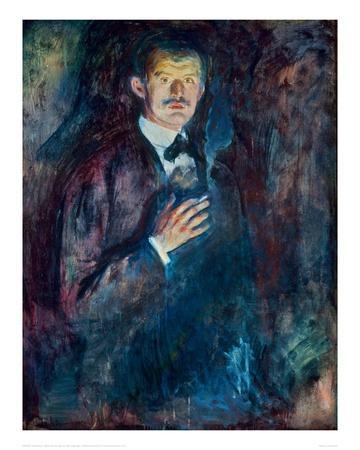 Self Portrait with Cigarette, 1895
