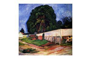 Summer Night at Asgarstrand by Edvard Munch
