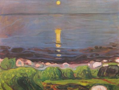 Summer Night at the Beach by Edvard Munch