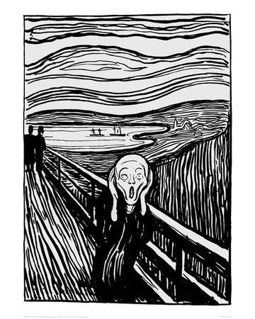 The Scream (Black and White)