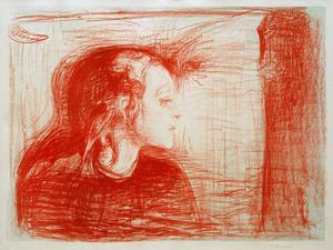 The Sick Child 1, 1896 by Edvard Munch