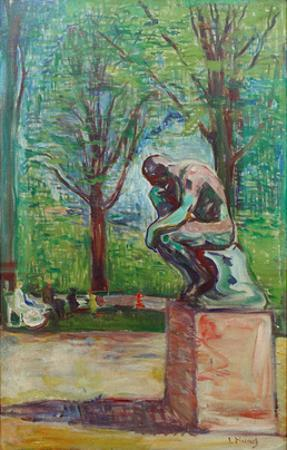 The Thinker by Rodin, 1907 by Edvard Munch