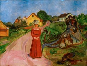 Woman in a Red Dress, 1904 by Edvard Munch