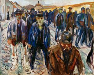 Workers on the Way Home by Edvard Munch