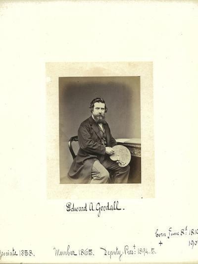 Edward A. Goodall, 1864--Photographic Print