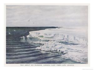 The Great Ice Barrier Looking East from Cape Crozier in Antarctica by Edward A. Wilson