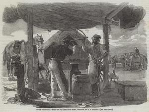 Before Sebastopol, Forge of the Left Siege Train by Edward Angelo Goodall