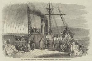 Deck of the French Transport, L'Euphrate, Off Messina by Edward Angelo Goodall